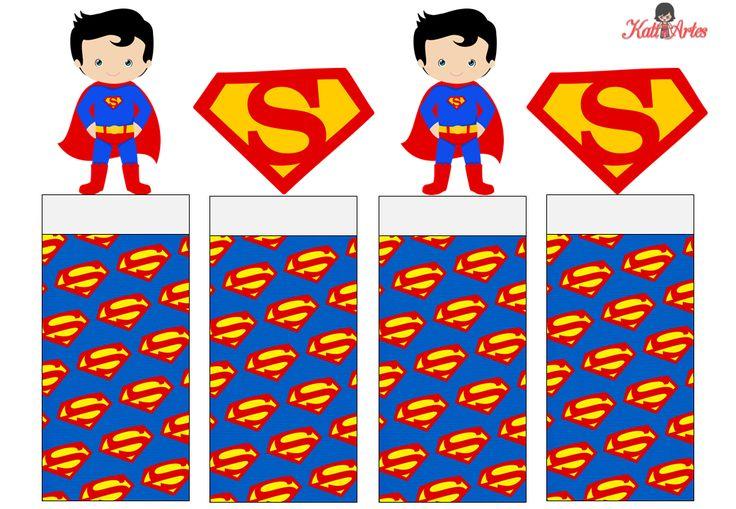 Superman: Envoltorios Especiales para Golosinas, para Imprimir Gratis.