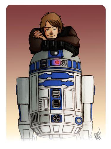 Anakin and his buddy - anakin-skywalker Fan Art
