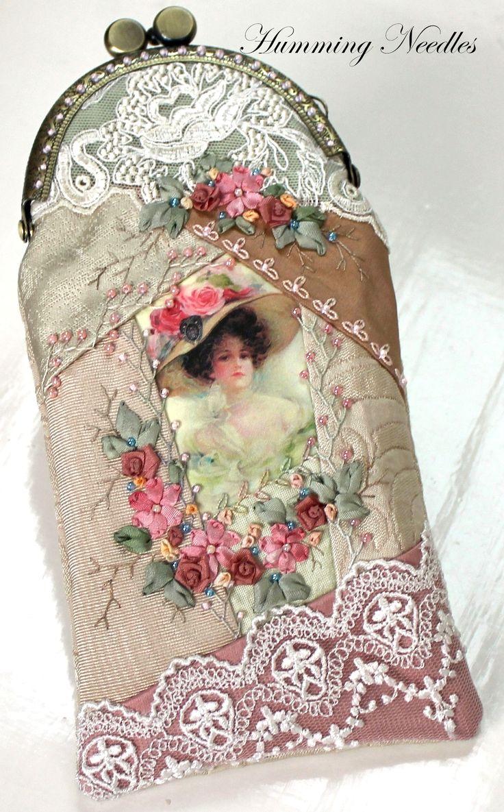 Ribbon embroidery bedspread designs - Crazy Quilted Eyeglass Case Ribbon Embroideryembroidery Stitchesembroidery Patternscrazy