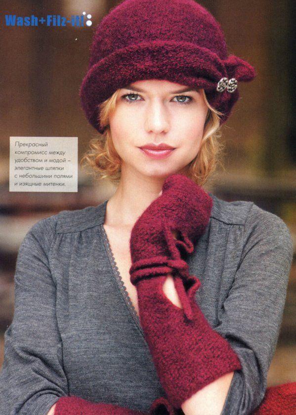 Вязание. Два элегантных комплекта: шляпка и изящные митенки. Обсуждение на LiveInternet - Российский Сервис Онлайн-Дневников