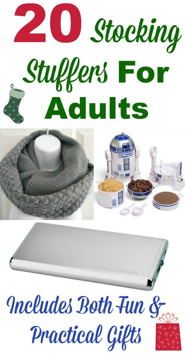 *20 stocking stuffer ideas for adults, including both fun and practical gifts