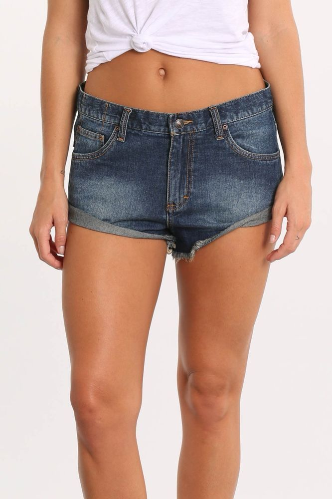 7af020b928 Details about JAG - Blue Mid Rise Stretch Denim Shorts Women's Size ...