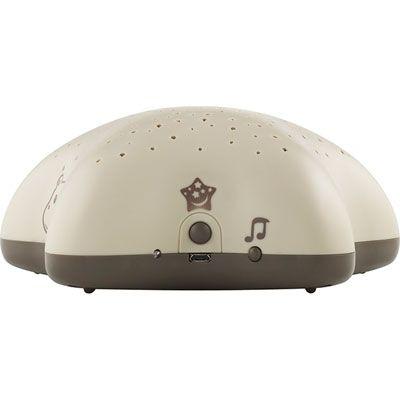 Pabobo Veilleuse bébé projecteur d'étoiles musical hippo taupe