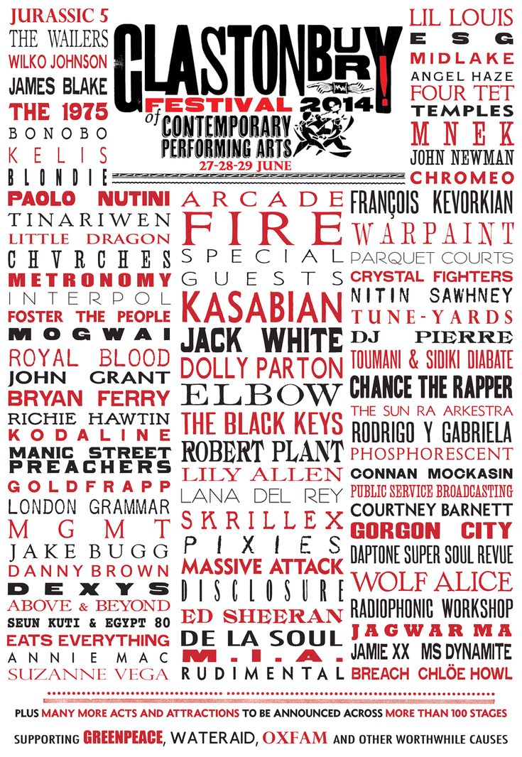 Glastonbury 2014 line-up