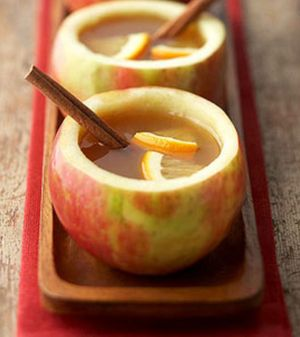 It is so hot in Los Angeles, I'm wishing for cooler weather, which will call for Hot Apple Cider. How cute in real apple cups?!