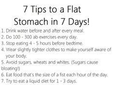 how to get a flat tummy in a week - Google Search