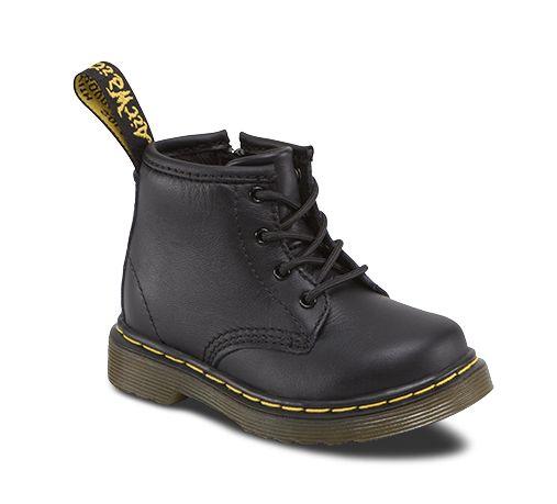 Dr. Martens Auburn Lamper, Zapatos Unisex Bebé, Negro (Black), 18 EU