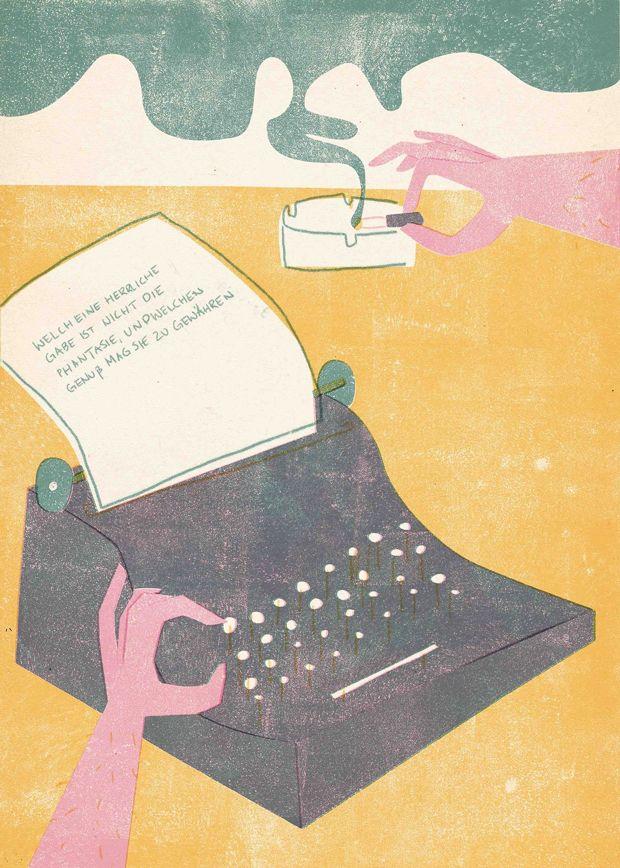 Barbara Dziadosz hace ilustraciones rosa chicle.