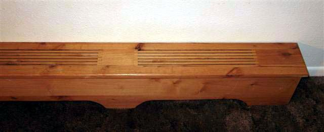 horizontal wood baseboard cover custom covers from johanson wood designs wooden projects. Black Bedroom Furniture Sets. Home Design Ideas