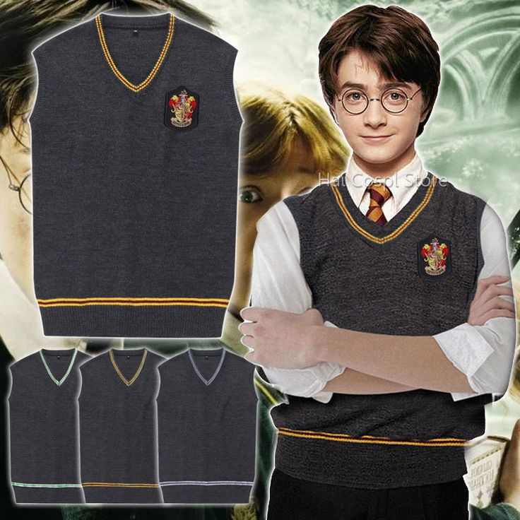 High Quality Badge Harry Potter Sweater Vest Slytherin Gryffindor Ravenclaw Cosplay Costume //Price: $29.00 & FREE Shipping //     #hashtag2