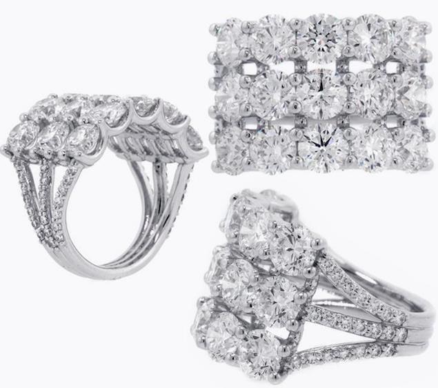 Norman Silverman diamond ring as seen on Suki Waterhouse 2015 Oscars