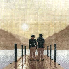 First Light - Sepia Cross Stitch kit by Heritage Crafts