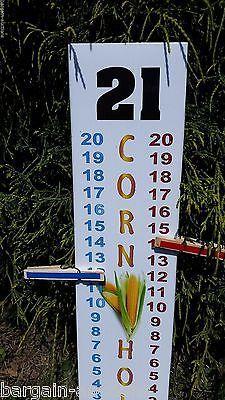 "Cornhole Scoreboard Score Keeper - Full Color ""Corn Hole"" & Life Like Corn Cob"