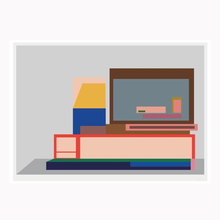 Electronics - illustration print by Artist Carsten Nielsen ( 2017 )