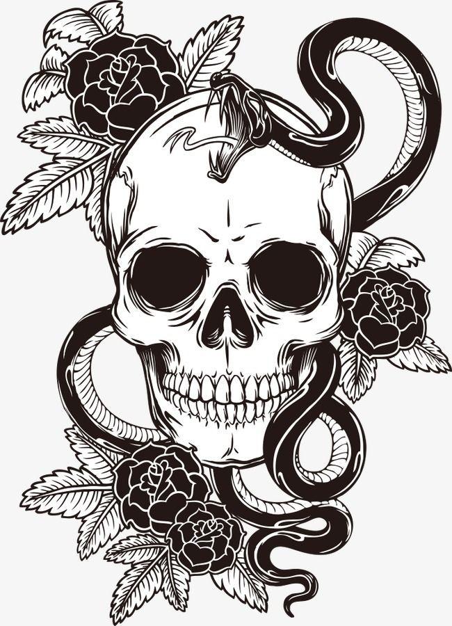 Skull Tattoo Transparent Http Viraltattoo Net Skull Tattoo Transparent Html In 2020 Skull Illustration Skull Tattoo Skulls Drawing