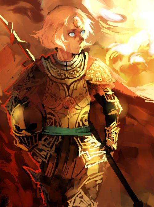 Knight!Pearl ||| Steven Universe Fan Art by velocesmells on Tumblr