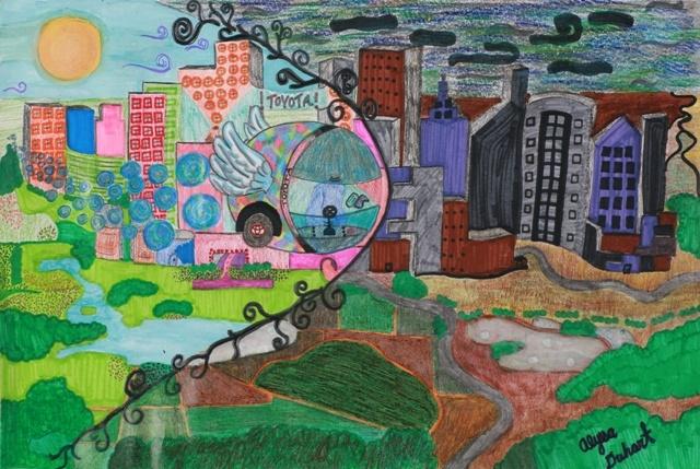 Toyota Dream Car Art Contest  - My Super Bubble Generator Machine by Alyssa D. (Age 12 - Frisco, TX)