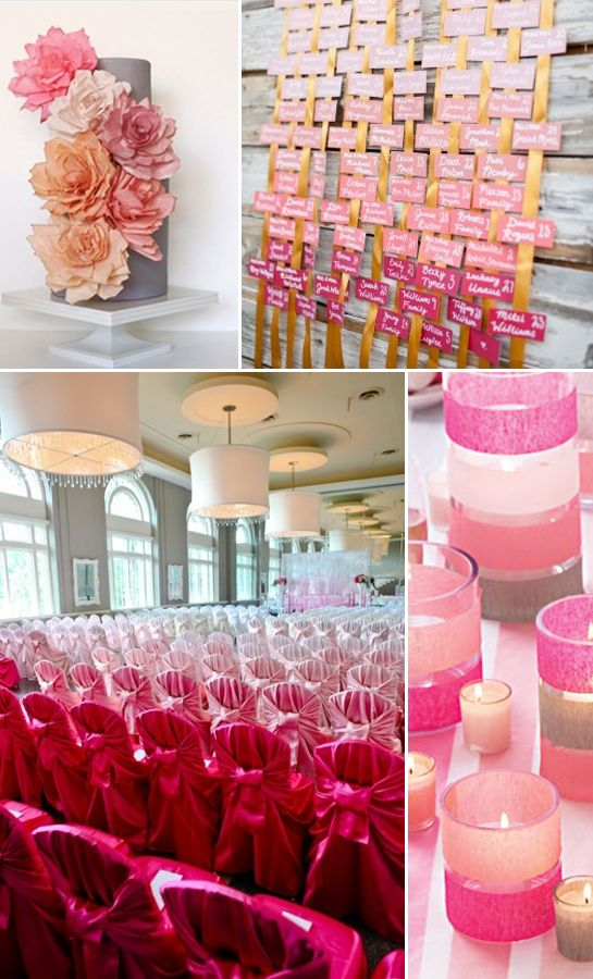 Ombre Wedding Inspiration. Just saw a purple ombre wedding and it was sooo pretty but simple enough!