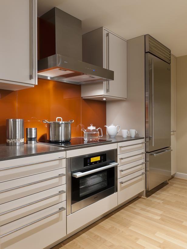 Modern Kitchen With Pop of Orange