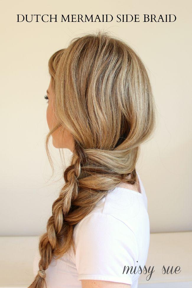 Braid 8-Dutch Mermaid Side Braid | Hair Tutorials | Side braid ...