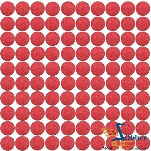 Nerf Rival Refill Compatible Bullet Balls 100 Rounds Red Machine Gun Ammo Packed #CornucopiaBrands