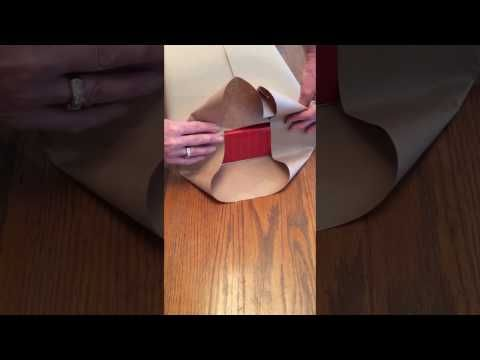 How to gift wrap a box using double sided tape - YouTube