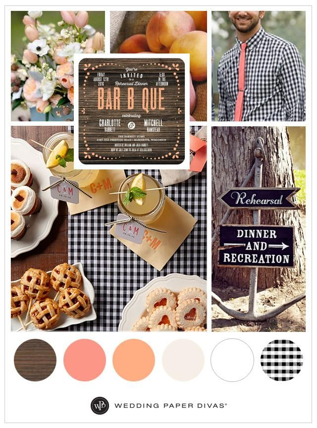 Rehearsal Dinner Themes: Get ready for fall. A mix of chic, rustic, and hipster is the perfect way to set the mood for this BBQ-inspired rehearsal dinner.