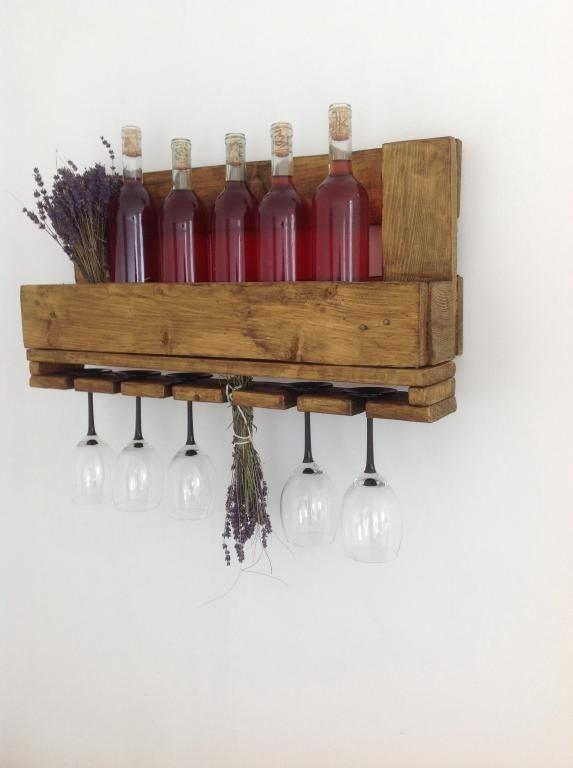 Półka, stojak na wino. Handmade, rustykalna. (4558684338) - Allegro.pl - Więcej niż aukcje.