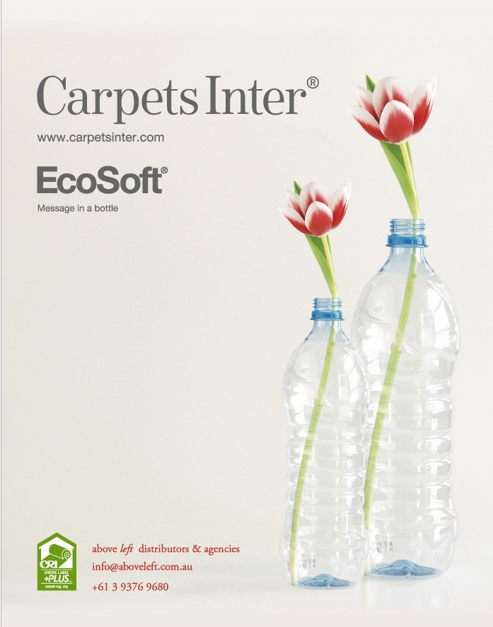 Above Left EcoSoft carpet backing is made from recycled PET ...