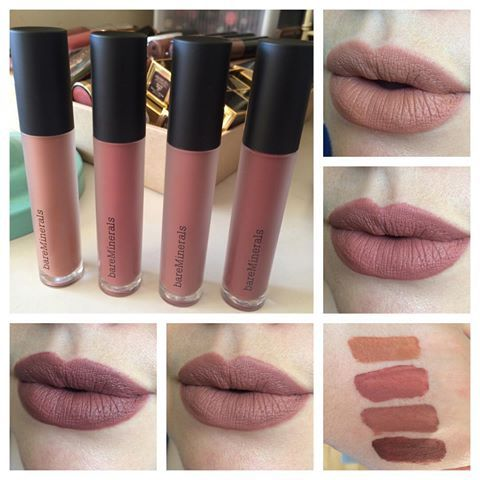 Gen Nude matte liquid lip colors in Om (top right), Boss (center right), Scandal (bottom left), and Icon (bottom center). Bare Minerals hopped on the matte liquid lipstick bandwagon - and they're all variations of NUDES! I'm a happy girl, especially because I'm liking this formula so far too. It's thin but it does dry down matte. Settles into lip lines slightly and Om did leave a subtle line in the center of my lips after a few hours of wear. These aren't the longest wearing formula, but…