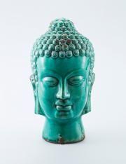 BUDDHA staty grön
