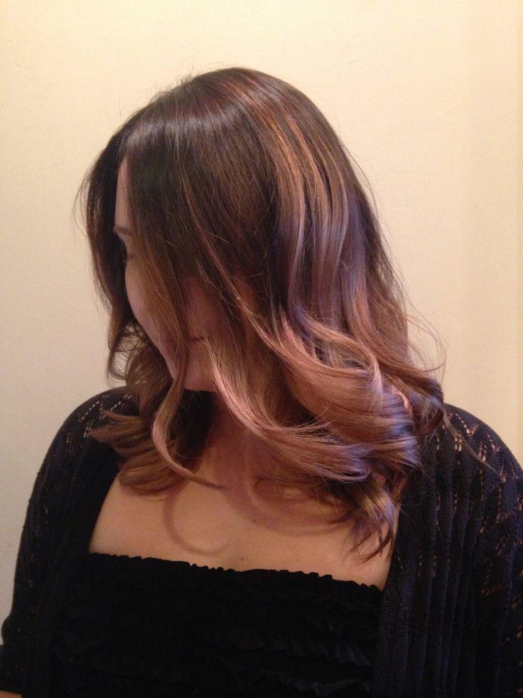 Curly Hair Red Balayage Highlights Idea