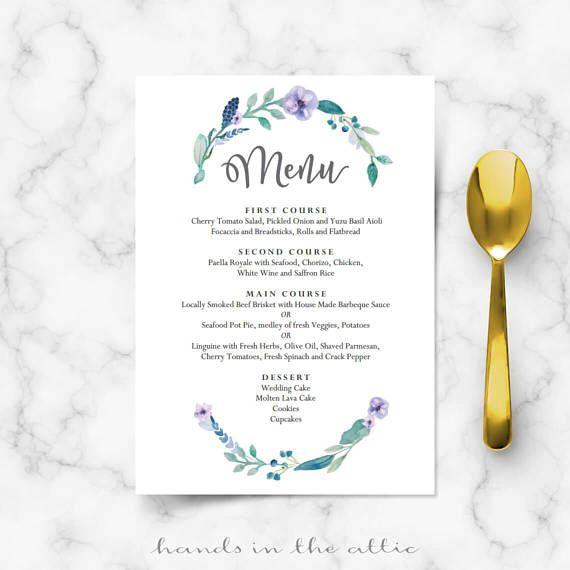 Best Wedding Menu Cards Images On   Menu Templates