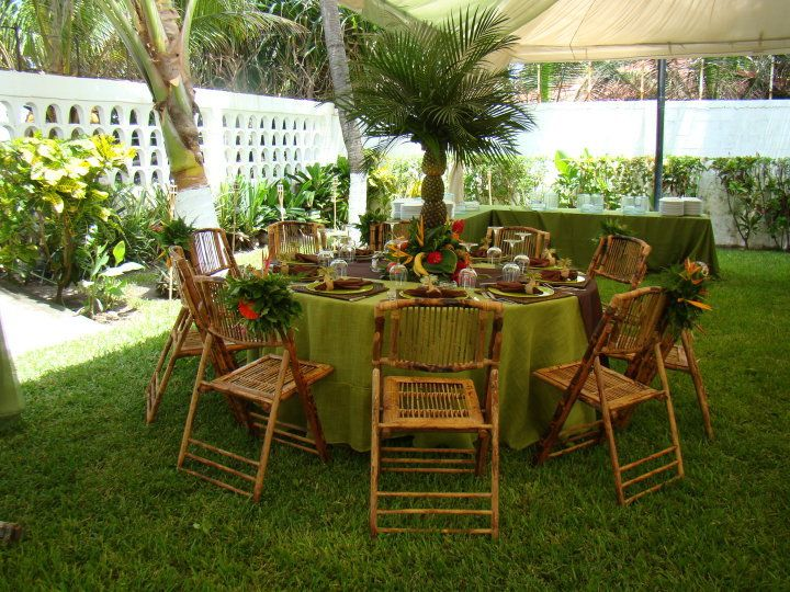 Silla de bambu bamboo chair montajes para bodas fiestas for Sillas para quinceaneras