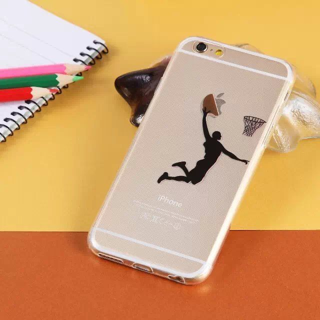 Basketball player DUNK apple logo iPhone 6/6 plus phone soft case protection