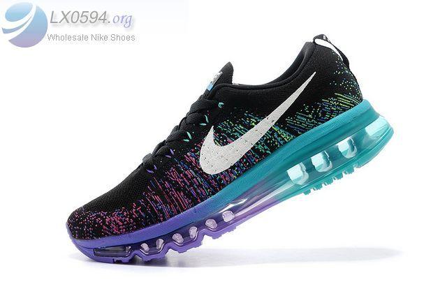Nike Flyknit Air Max 2014 Black Purple Womens Trainer