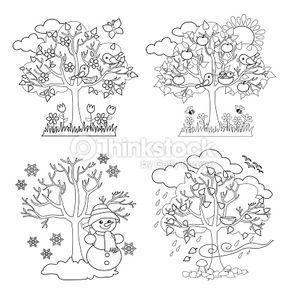 4 seasons tree art - Google-søgning