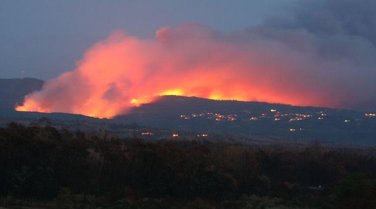 Hills son fire Portugal