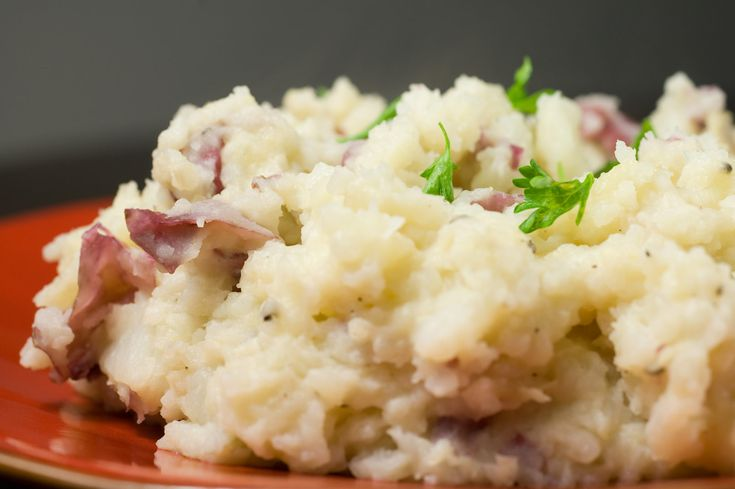 Mahed Potatoes.  Microwave 2 large Idaho potatoes until soft.  Mash and add 1 cup sour cream.  Add salt & pepper.