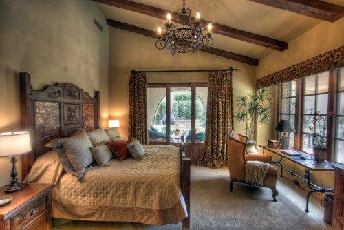 How to Design A Bedroom in Tuscan Italian Mediterranean Style Bedroom Picture