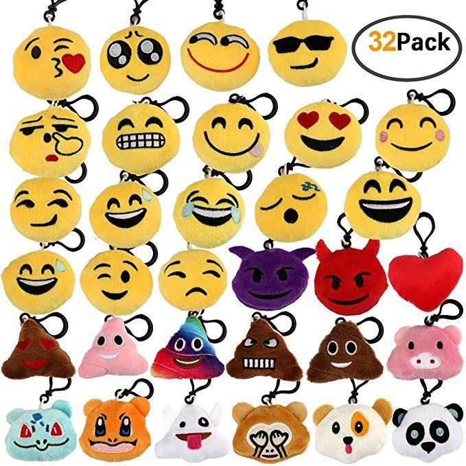 Amazon com: Encheng 32 Pack Emoji Party Favors Emoji Plush