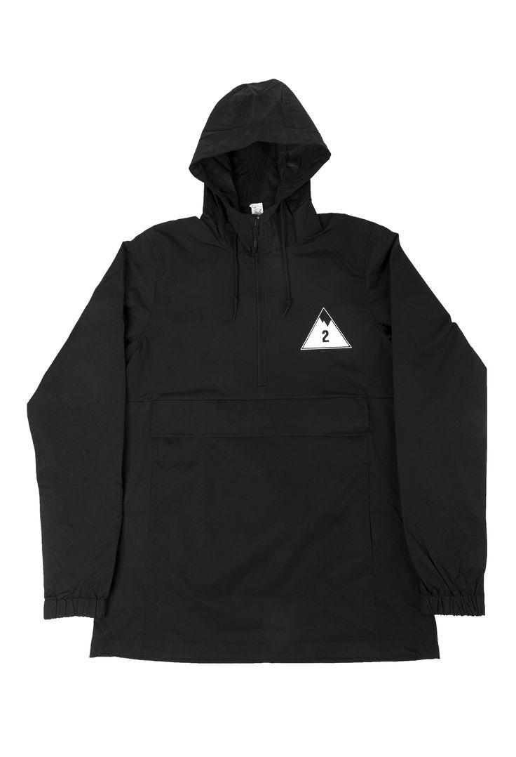 "2nd Nature ""2"" Mtn Logo Windbreaker Black"