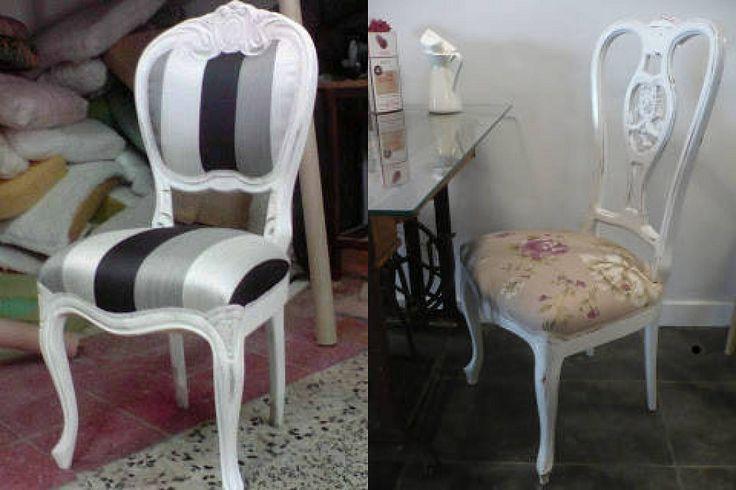 C mo restaurar y pintar de blanco una silla bricolaje - Restaurar sillas antiguas ...