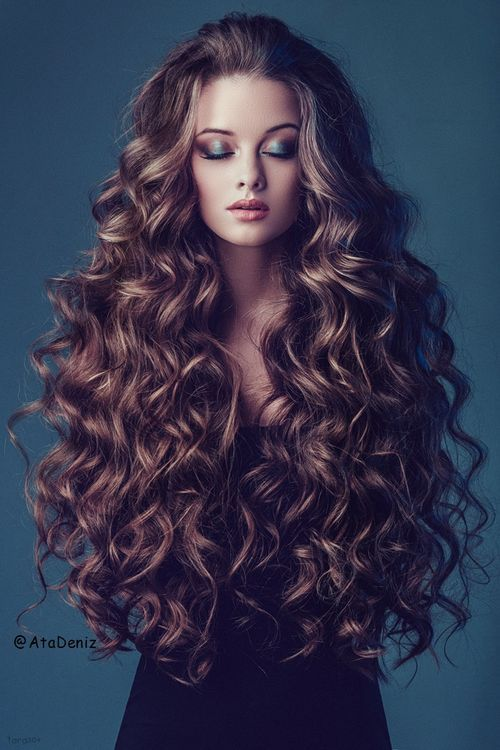 Long hair-Fashion Girl-hair color-curle-wavy                                                                                                                                                                                 More