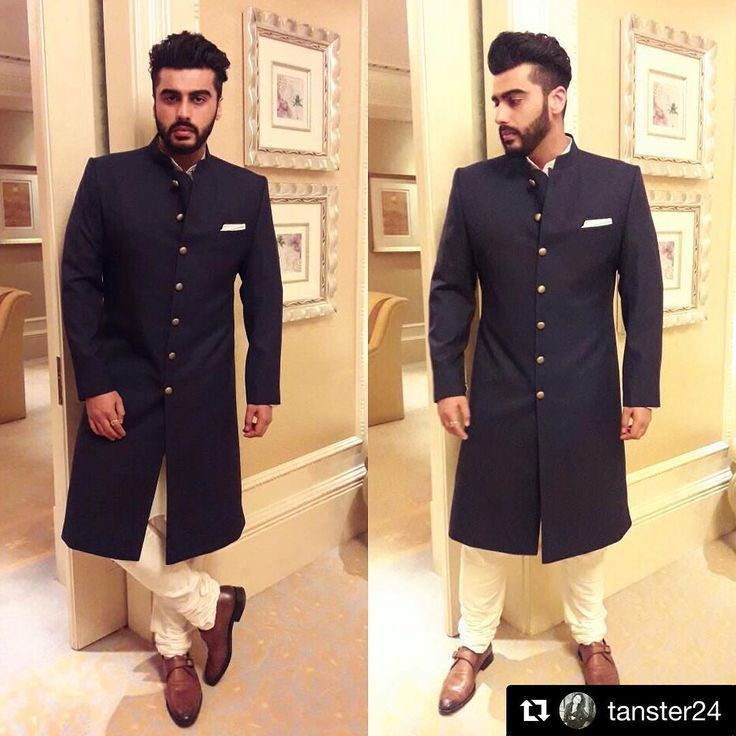 #Repost @tanster24 with @repostapp ・・・ #ArjunKapoor in a custom Achkan by @arjunkilachandofficial // Shoes @zegnaofficial for hi
