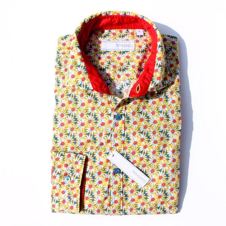 #メンズ #長袖 #カジュアルシャツ #イタリア #ポジャンティ― #POGGIANTI #シャツ