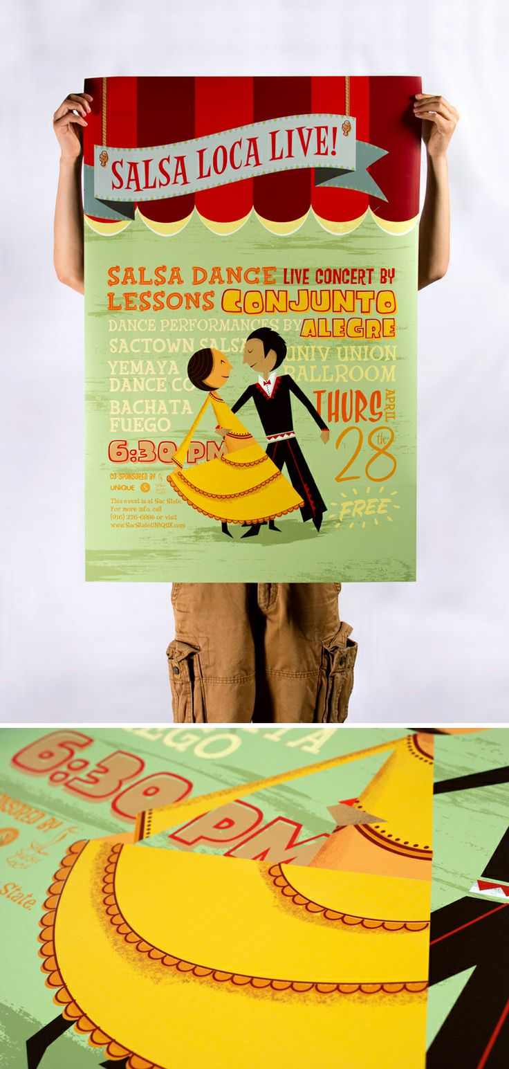 Salsa Loca Live Illustration Poster