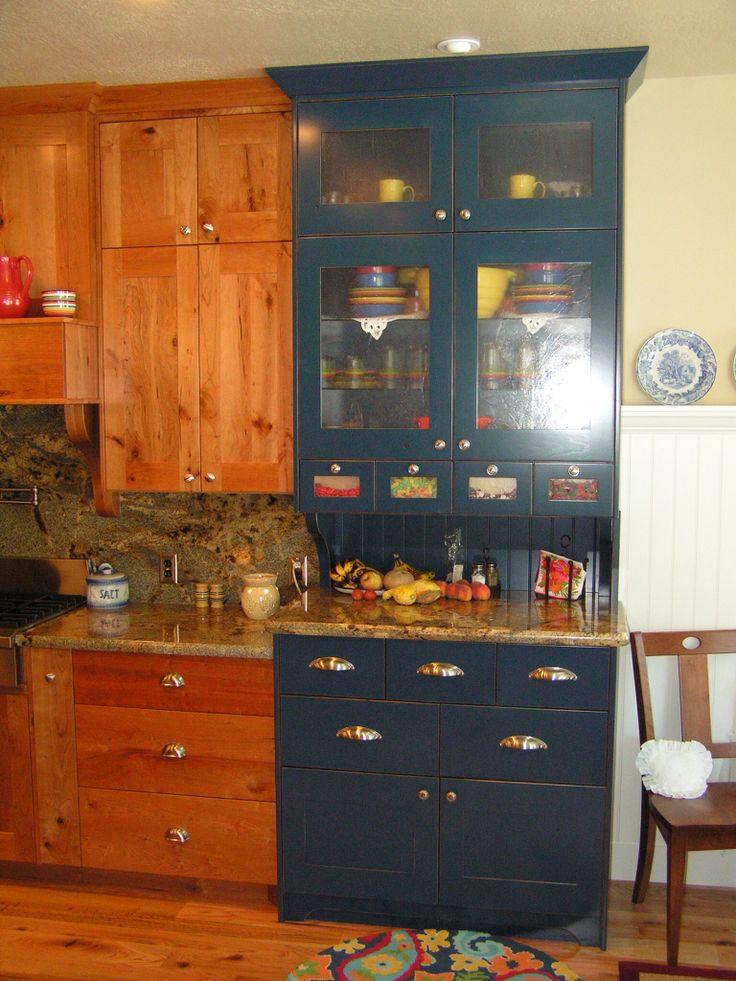 Dark Hickory Kitchen Cabinets