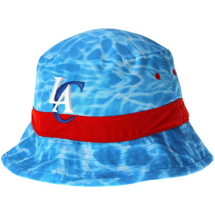 LA Clippers Mitchell & Ness Surf Camo Bucket Hat - Blue