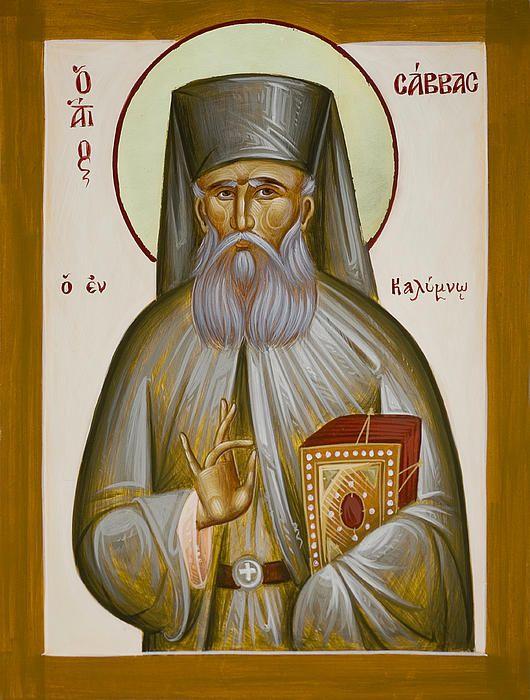 St Savvas of Kalymnos www.ikonographics.net